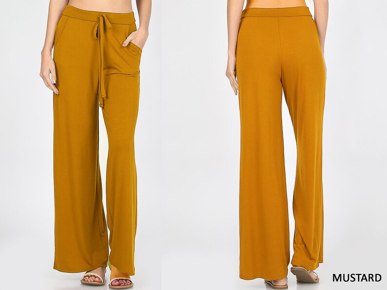 Palazzo Pants Sustainable Plus Size Lounge Pants Wide Leg Pants Made in USA Pajama Pants Gaucho Upcycled butter Soft Lounge Pants
