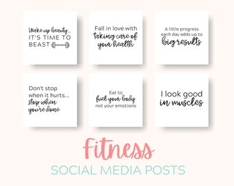 Fitness Quotes Etsy