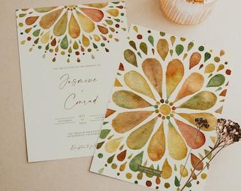 Gypsy Wedding Invite Etsy
