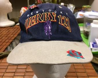 Vintage Kentucky derby festival Strapback hat 1980s 90s