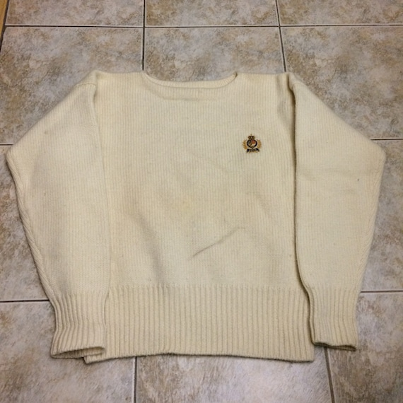Vintage Polo Ralph Lauren 100% wool crest 1980s s… - image 1