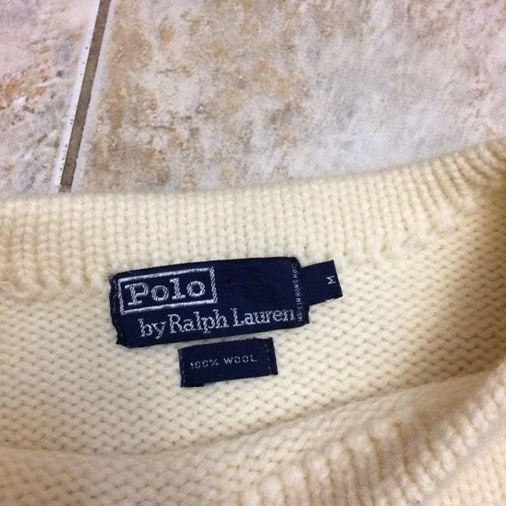 Vintage Polo Ralph Lauren 100% wool crest 1980s s… - image 6