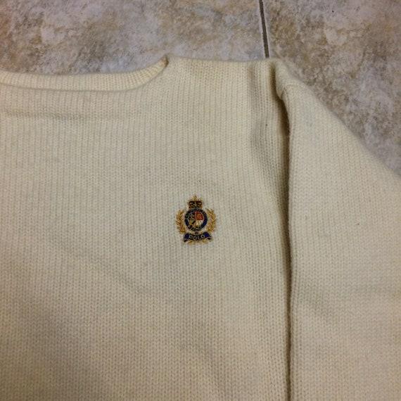 Vintage Polo Ralph Lauren 100% wool crest 1980s s… - image 2