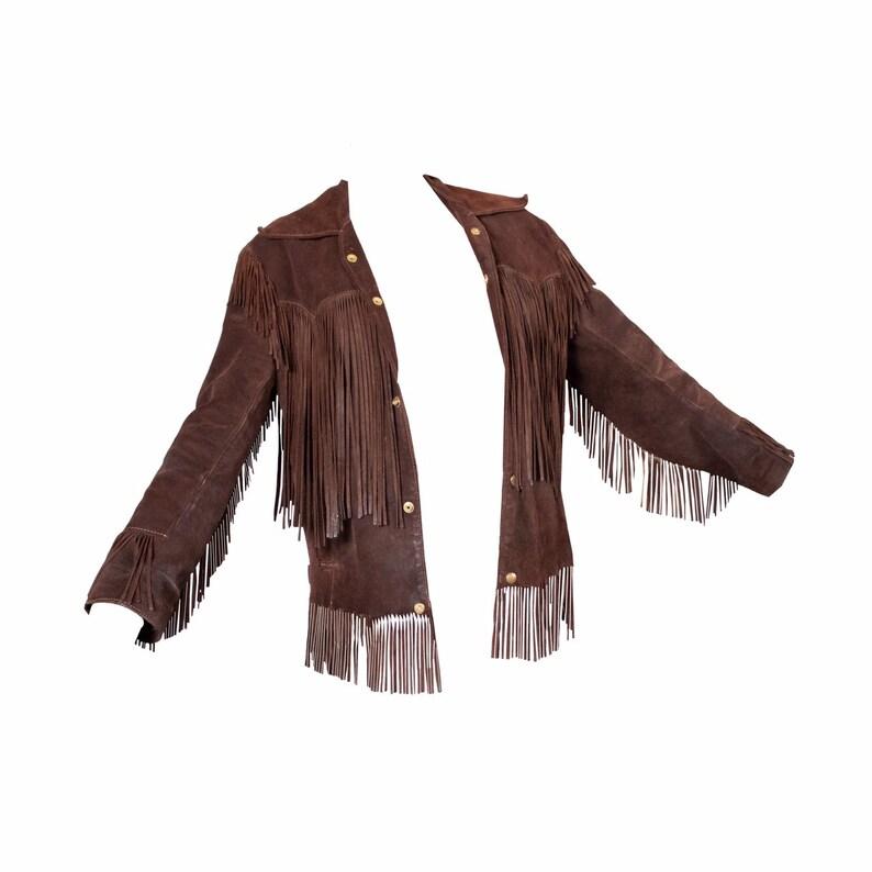 1970\u2019S Chocolate Fringe Suede Coat