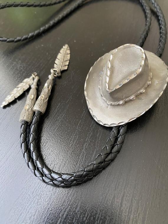 Vintage Cowboy hat bolo