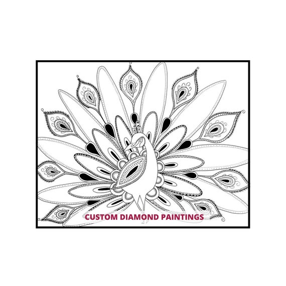 Use Your Own Drills! Coloring Page 30x30 Diamond Painting Happy Daisy
