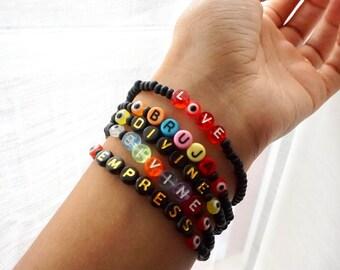 Empress - Bruja - Love - Divine - Evil Eye - Multicolor Bead Handmade Bracelet