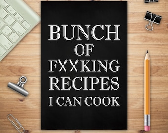 travel journal cooking diary food diary recipe journal foodie journal self care diary chef gift Chef is Always Right Stapled Notebook