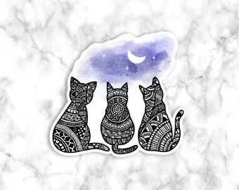 Cat Print Sticker, Cute Stickers, Water Bottle Sticker, Laptop Sticker, Stickers - Print Decal, Cute stickers, Cat gift sticker, Stickers