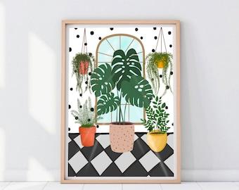 Decorative Plant Print | Plant Loves Print | Plant Print | Plants Lady Gift | Plant Wall Art | House Plant Printable Prints