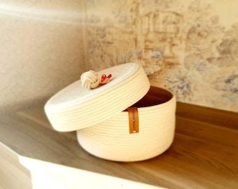 Cotton Rope Bowl Cord Bowl Storage Bowl Kitchen Basket Breakfast Bowl Minimalist Decor Sewed Bowl Home Decor Sewed Basket Cotton Basket Bowl