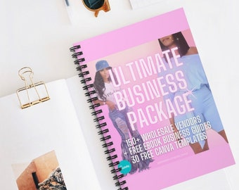 The Ultimate Business Package, Fashion Vendors, Raw Hair Vendors, Mink Lashes Vendors, Re-Usuable Canva Templates, Ultimate Business Guide