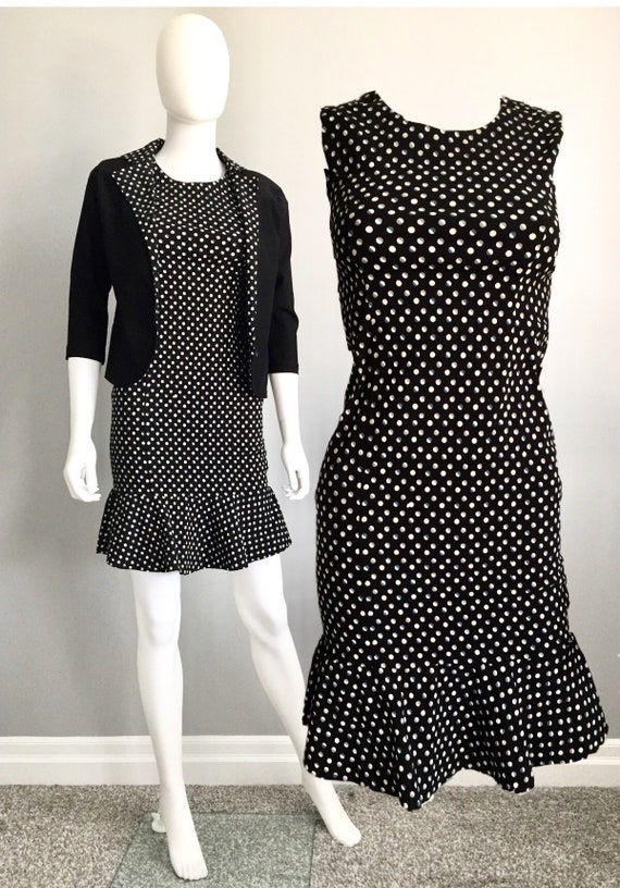 Vintage Blazer dress Polka Dot set - Petite Blazer