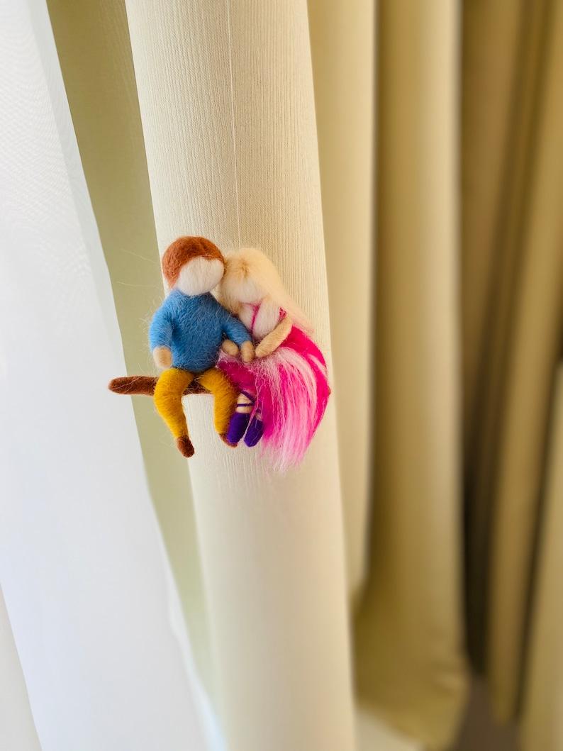 Felt couple Waldorf dolls romantic decorations gift for couple