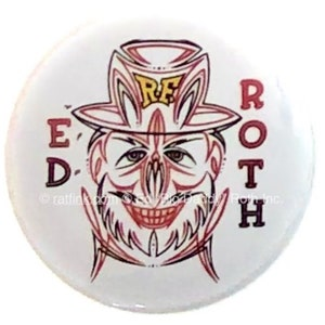 Official Rat Fink Ed Roth Wings Collectible Pinback Button Ed Big Daddy Roth