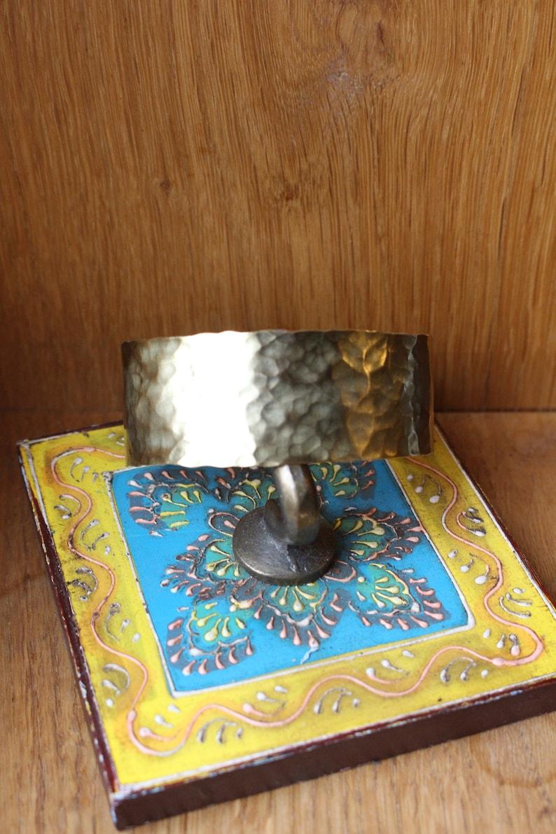 Bangle bracelet brass gold hammered hammer blow handmade