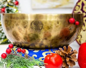 "SALE END TOnight!Tibetan 9""Power of The Full moon Handmade Singingbowl for Any chakra,sound healing, meditation, yoga and chakra"