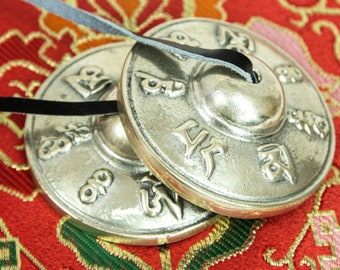 "SALE END TOnight!Long last sound Tibetan 3"" Handmade 7 metals Tingsha  Cymbals Meditation Yoga Buddhist Tingsha Meditation Yoga"