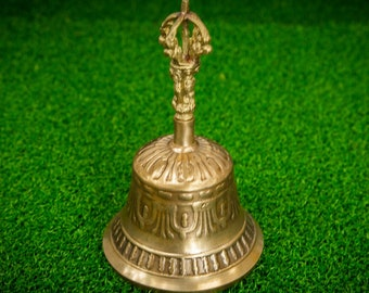 SALE END TOnight!Tibetan Handmade metal 6 inches Bell for decoration, yoga, sound