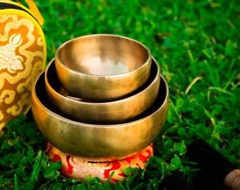 "SALE END TOnight!MasterSet 4""-5""- 6""Chakra Healing Handcrafted Singing bowls for sound healing, meditation, yoga and charka balancing et"