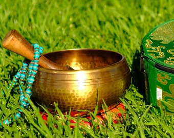 SALE END TOnight!Tibetan 6 inch Hand beaten hammering  Singing bowls for sound healing, meditation, yoga and charka balancing
