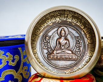SALE END TOnight!4.5 inch Buddha Singing bowl with for Meditation, Yoga, Chakra and healing