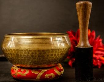 "SALE END TOnight!Tibetan 6.5"" Lingam bowl Handhammering Singingbowls for sound healing, meditation, yoga and charka balancing et"