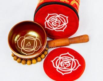 SALE END TOnight!Root chakra set Tibetan Handmade singing bowl for sound healing, meditation, yoga chakra balancing. et