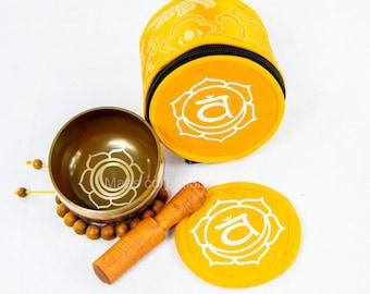 SALE END TOnight!Sacral chakra set Tibetan Handmade singing bowl for sound healing, meditation, yoga chakra balancing. et