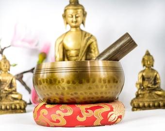 "Antique Tibetan 4"" Hand Beaten  Hammering Singing bowls for sound healing, meditation, yoga and charka balancing"