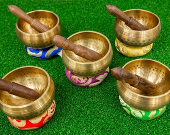 SALE END TOnight!7 pieces Tibetan  3 inches antique Chakra Healing Singing bowls for sound healing, meditation, yoga charka balancing