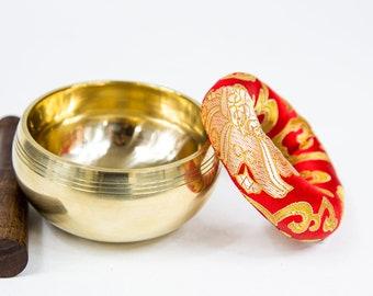 SALE END TOnight!Shining Tibetan3.5 inches Gift Handmade Singingbowl for sound healing, meditation, yoga and chakra balancing