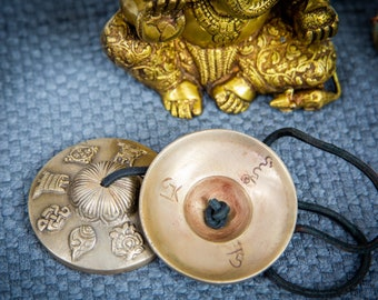 "SALE END TOnight!Tibetan 3"" Handmade 7 metals Tingsha  - Best sound and Quality Cymbals Meditation Yoga Tingsha Meditation Yoga Buddhist"