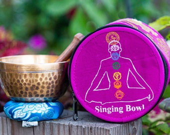 "SALE END TOnight!Tibetan 4"" Gift set Handhammering  antique looks Singingbowls for sound healing, meditation, yoga and charka gift"