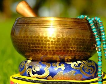 SALE END TOnight!Tibetan 7 inch Hand beaten hammering  Singing bowls for sound healing, meditation, yoga and charka balancing