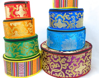 SALE END TOnight!Carrying case or Box for singing bowl Accessories for gift, storage, antique box Made in Nepal, hand sew, best bohemian