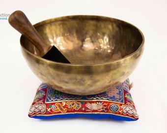 "SALE END TOnight!Tibetan 10 "" Handmade Singingbowl for sound healing, meditation, yoga and chakra balancing"