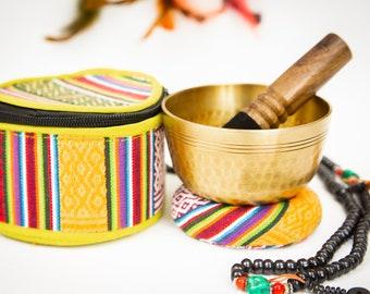 "SALE END TOnight!Tibetan 4"" Gift set Handhammering  antique looks Singing bowls for sound healing, meditation, yoga and charka balancing"