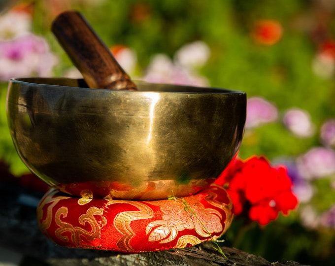 "Featured listing image: SALE END TOnight!Tibetan 6"" Handmade special Singingbowl for chakra,sound healing, meditation, yoga and chakra balancing"
