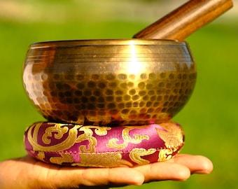 SALE END TOnight!5 inch Singing bowls Hand Beaten Hammer Singing bowls for sound healing, meditation, yoga charka balancing Made in Nepal