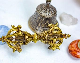 "SALE END TOnight!Big 5"" Tibetan Pure Handmade 7 metals Dorje (Vajra) for Meditation, Yoga, Chakra blancing,"