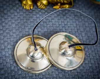 "SALE END TOnight!Tibetan 3"" Handmade 7 metals Tingsha Best sound Quality Cymbals Meditation Yoga Buddhist Tingsha Meditation Yoga"