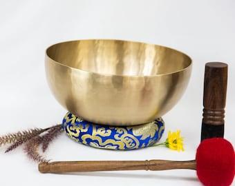 "SALE END TOnight!Tibetan 11,5"" Headsize Pure Handmade Singingbowls for chakra, sound healing, meditation, yoga and chakra balancing"