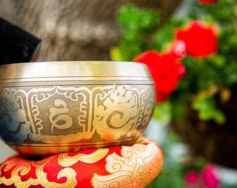 "SALE END TOnight!Tibetan 5.5"" Handhammering Singingbowls for sound healing, meditation, yoga and charka balancing et"