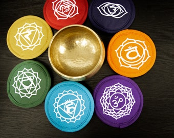SALE END TOnight!Round cushion handmade in Nepal for  Singing bowl for sound healing, meditation, yoga and chakra balancing