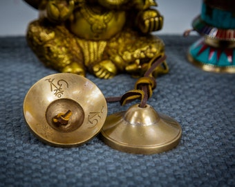 SALE END TOnight!Tibetan 3 inches ' inches Handmade 7 metals Tingsha Plane- Best sound and best Quality