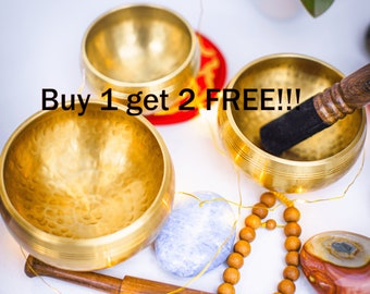 SALE END TOnight!Buy 1 GET 2 Free!!! antique looks Chakra Healing Handcrafted for sound healing, meditation, yoga and charka balancing et