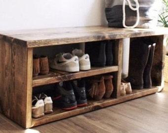 Hallway Shoe Storage Bench with cushion