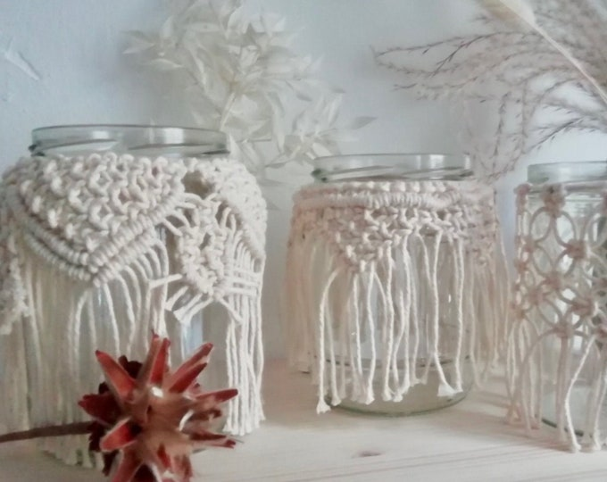 Featured listing image: Live-Online Workshop Macrame Windlight incl. material (shipping by post)