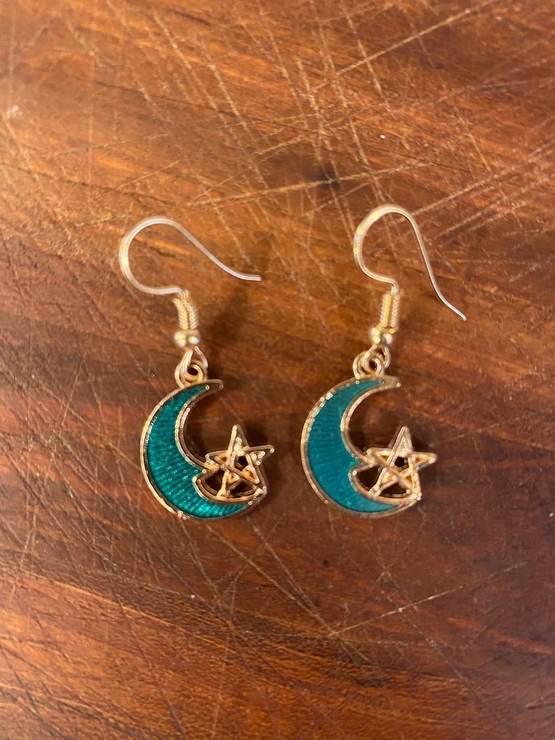 Shining Moon /& Star Earrings